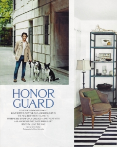 "September 2008  Elle Decor (cover), ""Honor Guard""  Designer: Nate Berkus"