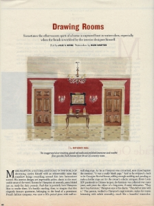 "April 1996  New York Times Magazine, ""Drawing Rooms""  Designer: Mark Hampton"