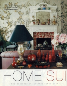 """August 1999  InStyle, """"Home Sui Home""""  Designer: Anna Sui  Gracie"""