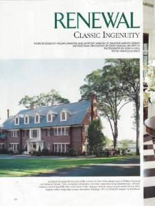 "April 2002  Traditional Home, ""Renewal: Classic Ingenuity""  Designers: William Diamond and Anthony Barratta  Zuber"