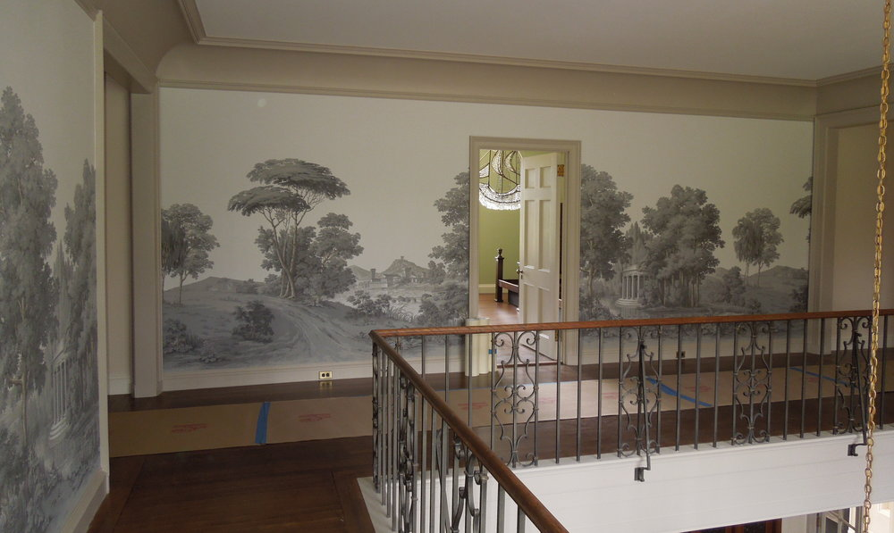 Newly installed replacement Paysage Italien by Zuber