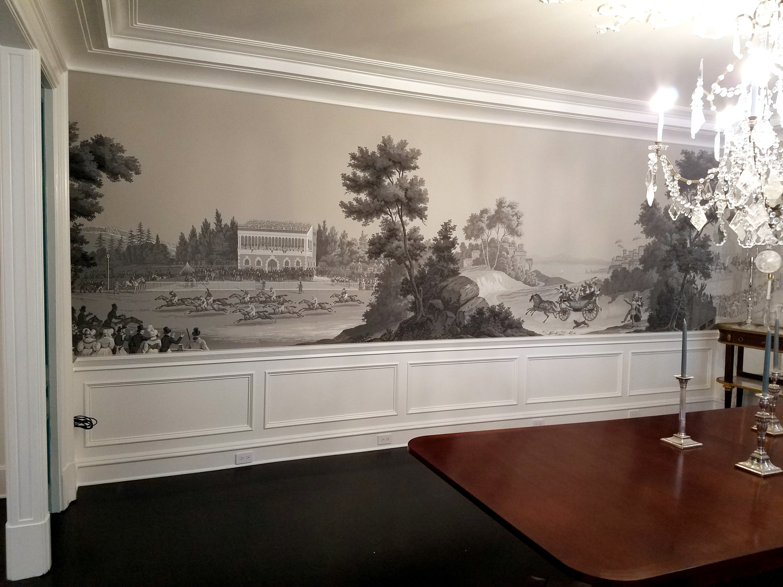 Click on pictures below to see more examples of History of Horse Racing installations