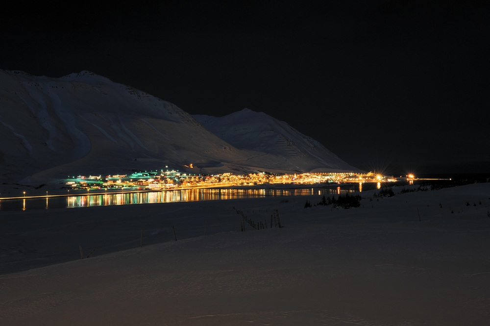 Ari Thor's first job as a policeman is in the town of Siglufjordur, photo, in the dead of winter. Photo © Sigurður Ægisson