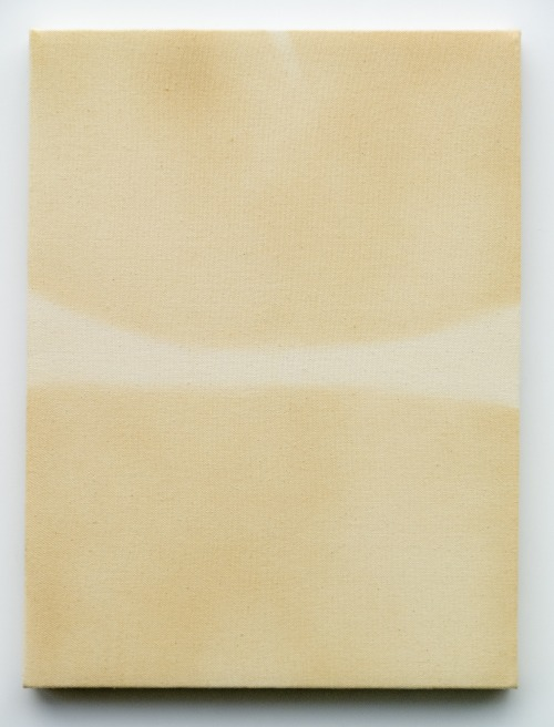 Tan Lines, 2014 Tanning spray on canvas