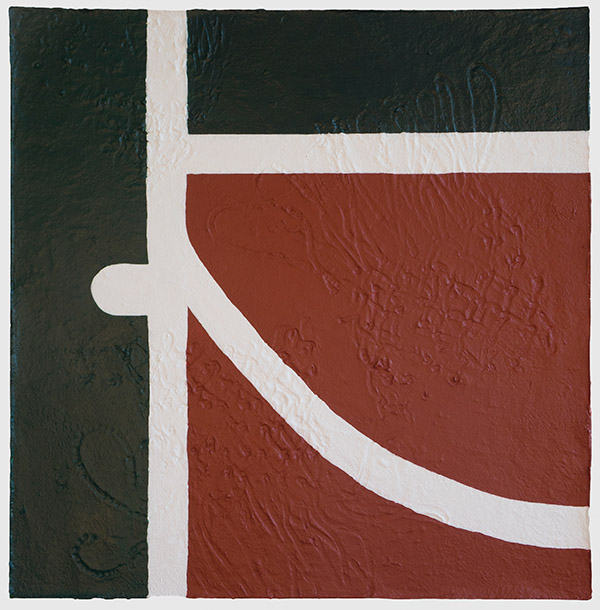 West 4th Street Courts , 2014 Acrylic and celluclay on canvas 30 x 30 inches