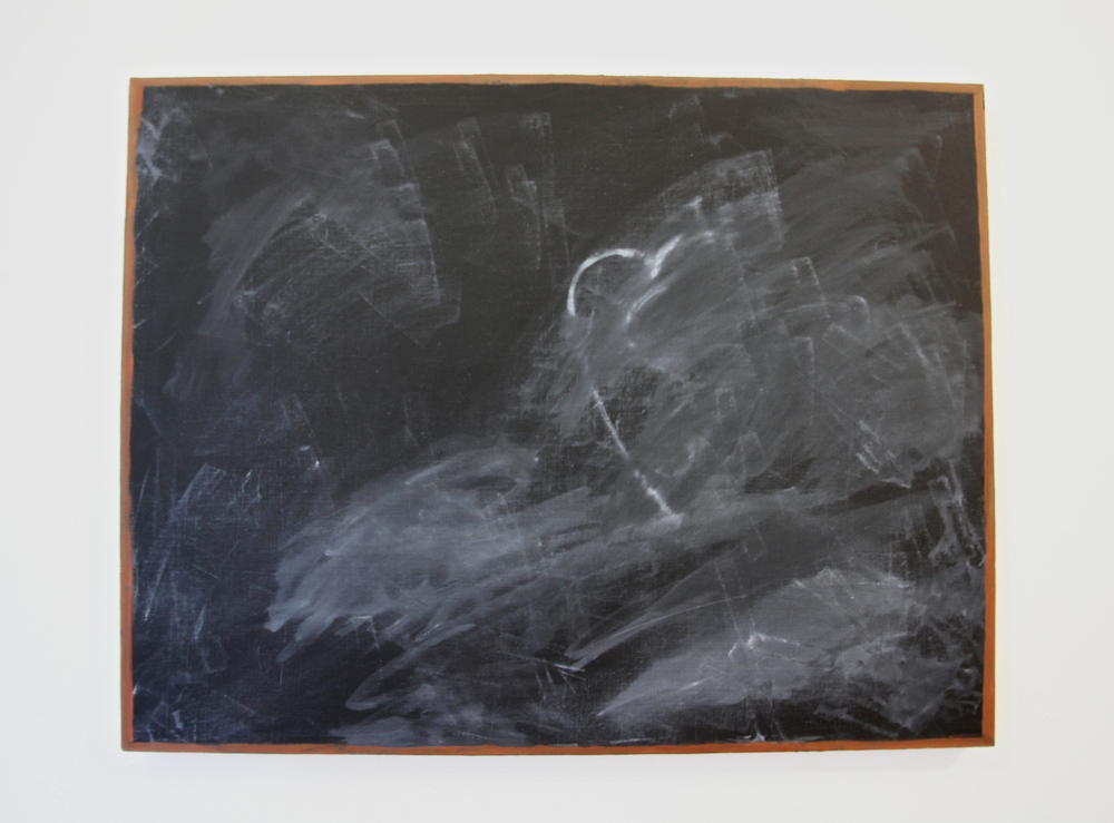 Luther Kroman    Erased,   2013 Oil on canvas  Photo credit: Candice Strongwater