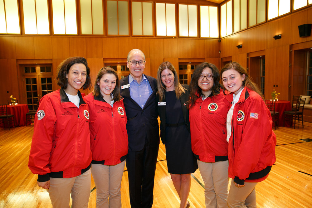 RJS Denver Co-Chair Gordon Trafton and Tracy Valentine with City Year Boston AmeriCorps members