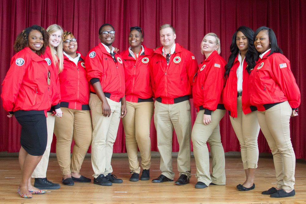 Celanese Team at City Year Dallas FY17 Opening Day