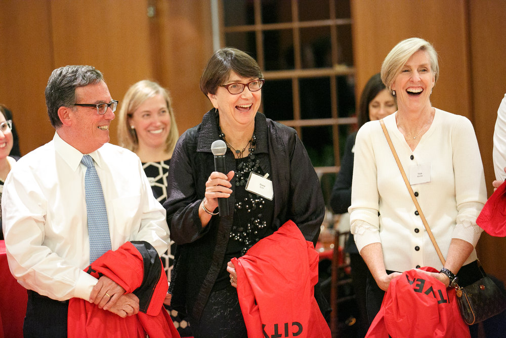 City Year Boston RJS Members Mark Polebaum, Diane Buhl, and Trish Mordas during the RJS Jacket Dedication Ceremony
