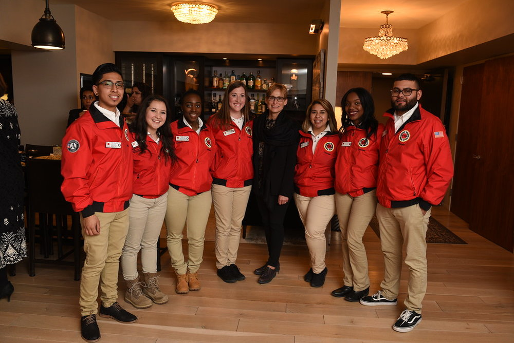 City Year Chicago AmeriCorps members with Amy Rule, First Lady of Chicago
