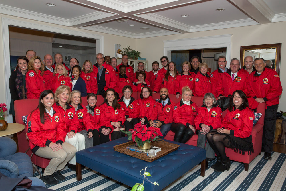 City Year Jacksonville Red Jacket Society Members with City Year Staff and AmeriCorps members