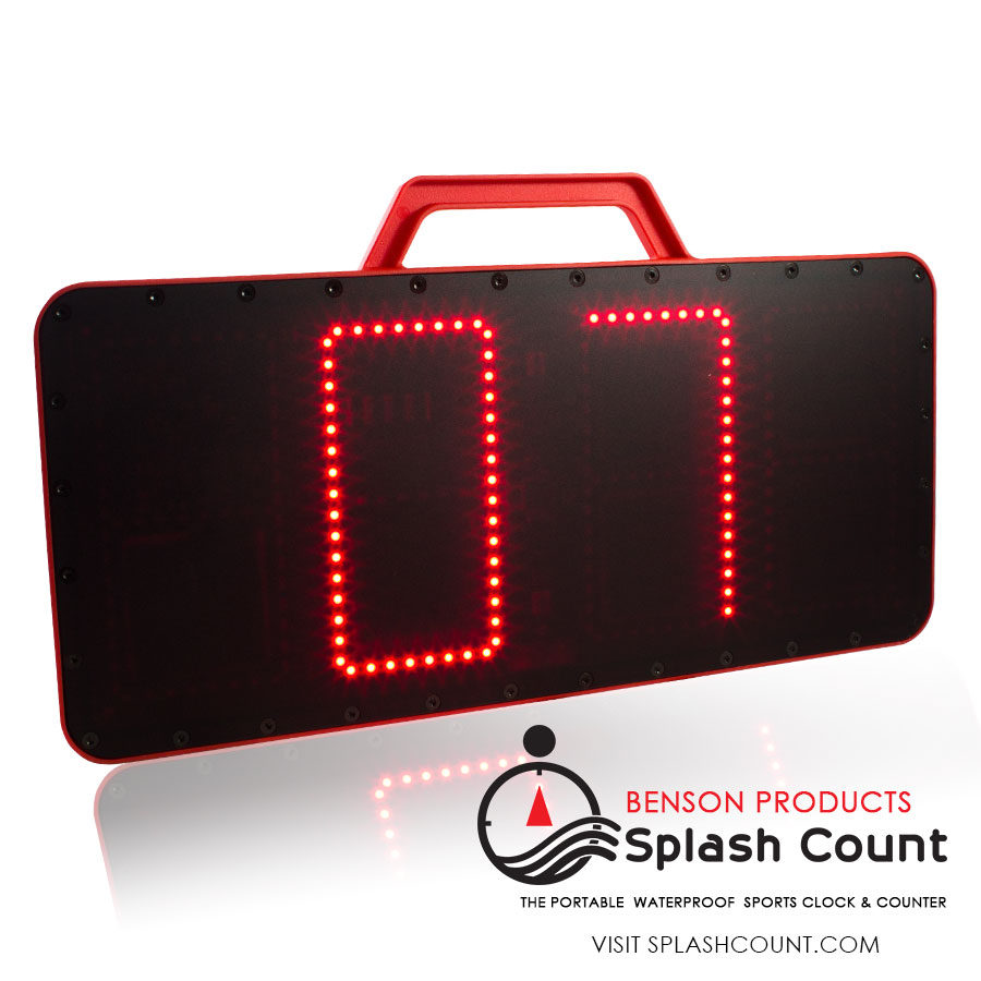 Face of Splash Count displaying a swim count