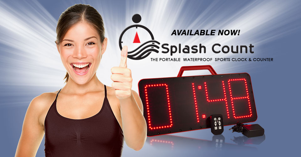 Splash Count, the portable pace clock you can count on