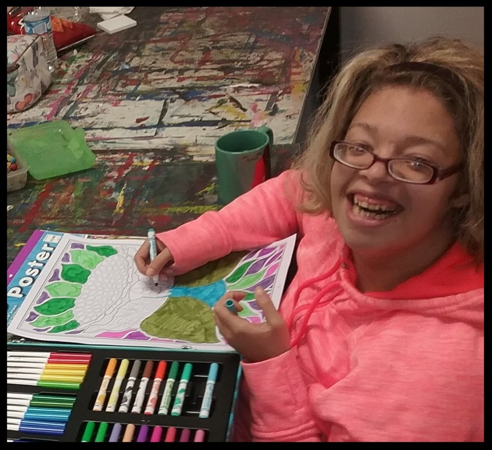 Whitney Reynolds - Whitney enjoys coloring and working on group projects.