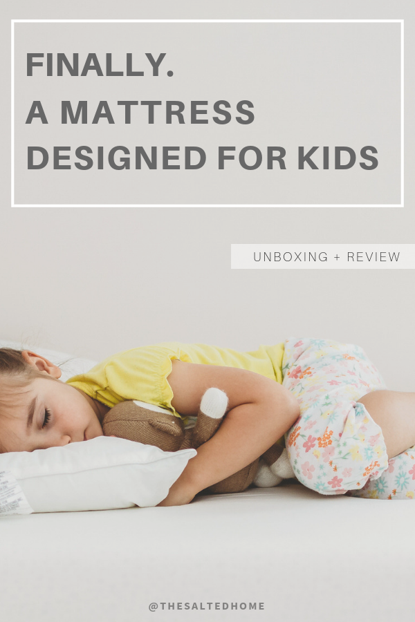 My jaw dropped at a sigh of relief. FINALLY, a mattress designed for kids. Why is that important? Well, safety is #1 but also because our kids are developing still! We took the plunge and purchased. I am glad to report both of our toddlers love it. There are so many benefits of this mattress, so come check out our review of this sleep system.