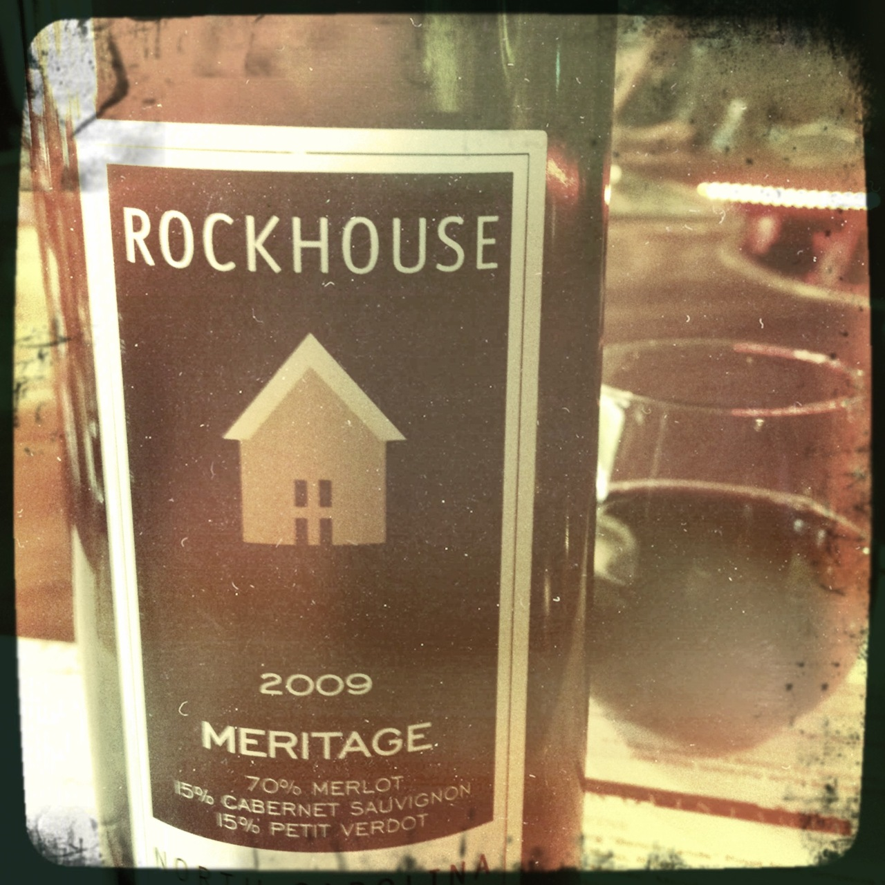 Rockhouse rocks. Rich, layered, smoky blackberry… #NC #wine #tryon #vino