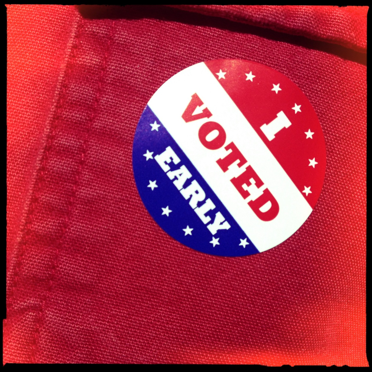 I love voting. I do. This year was the first time I have ever voted early. Felt good, as always, but added perk to avoid the game-day hoopla.