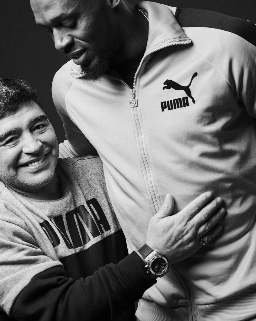 Diego Armando Maradona & Usain Bolt