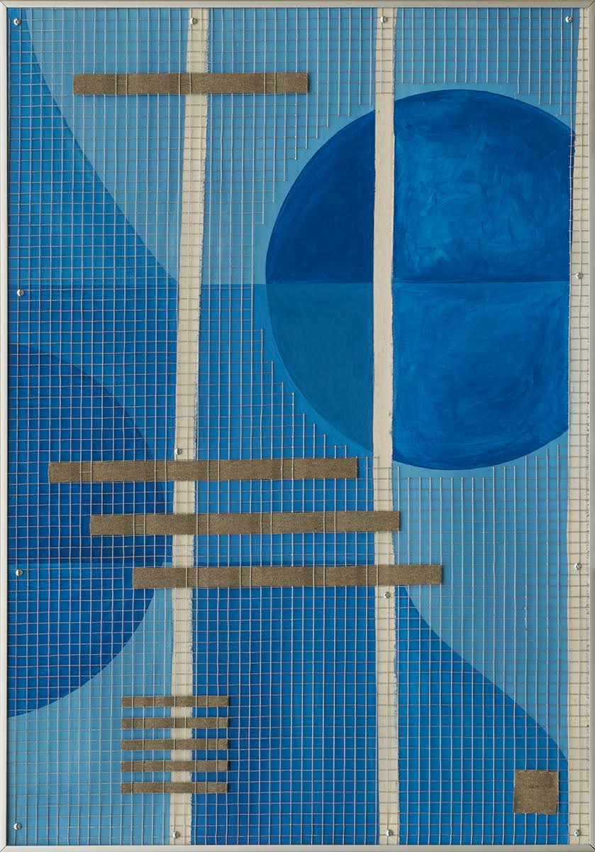 Barred , Mixed Media (includes acrylic on canvas), 27.5 x 39 inches, 2015