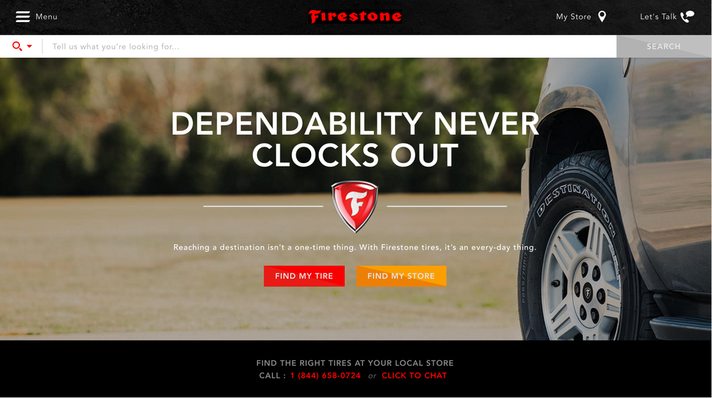 Firestone Site Redesign