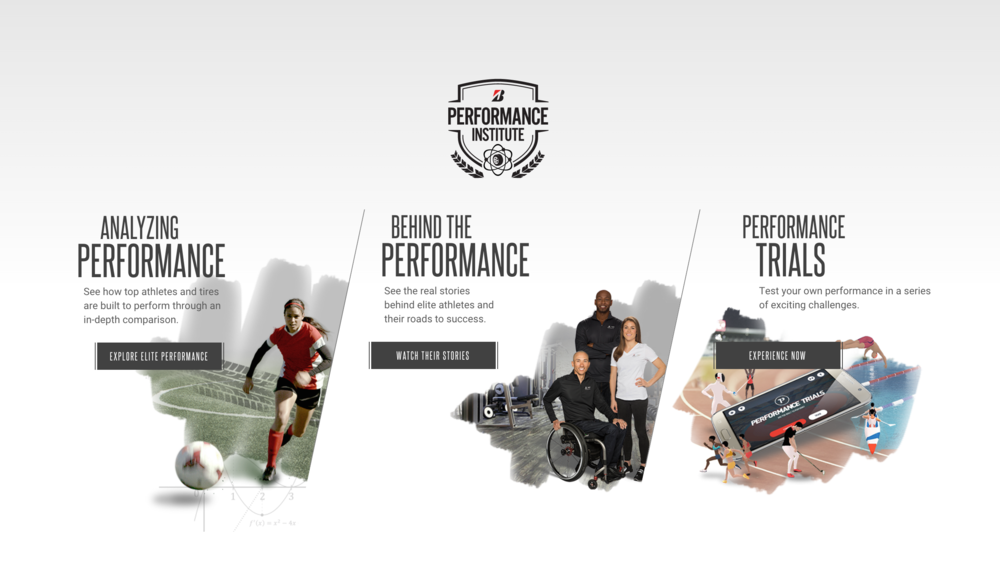 Three Sections of the Bridgestone Performance Trials