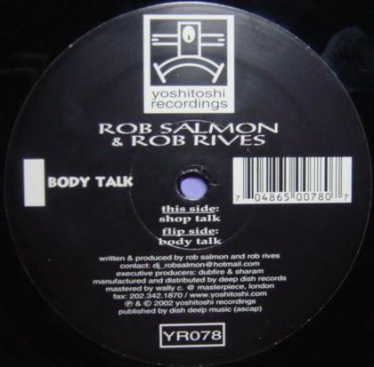 Rob Salmon & Rob Rives - Shop Talk / Body Talk