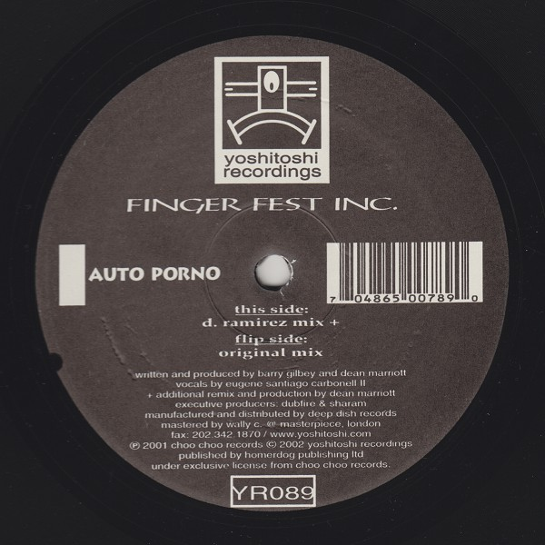 Finger Fest Inc. - Auto Porno (Remixes)