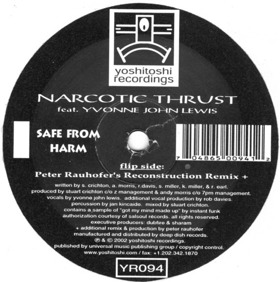 Narcotic Thrust Feat. Yvonne John Lewis - Safe From Harm (Peter Rauhofer Remix)