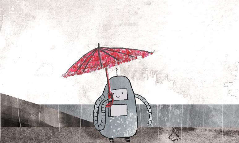 Robot Loves Parasol