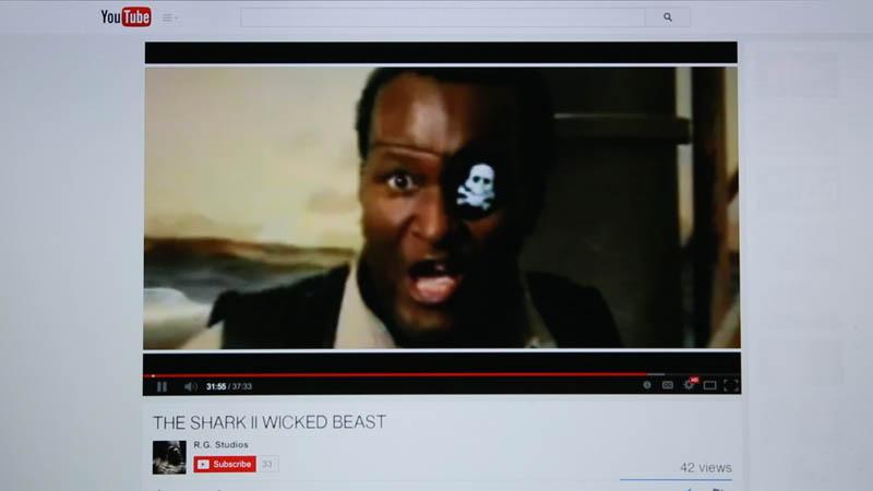 "An R.G. ""Internet Art Film"" entitled ""Shark II: Wicked Beast"""