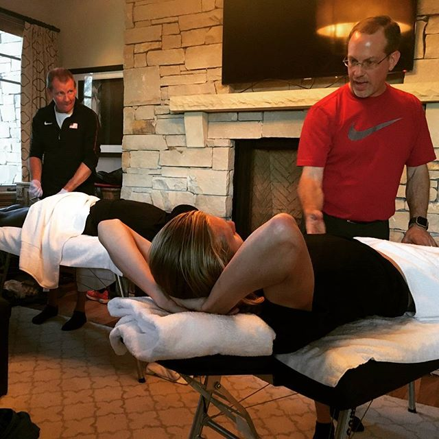 Thank you so much to @definingsports for coming up to Park City to work on us and make sure our bodies are still attached in all the right places and working correctly! These guys are the people working the hardest behind the scenes to make sure the athletes can be their best on competition day. Thank you guys!