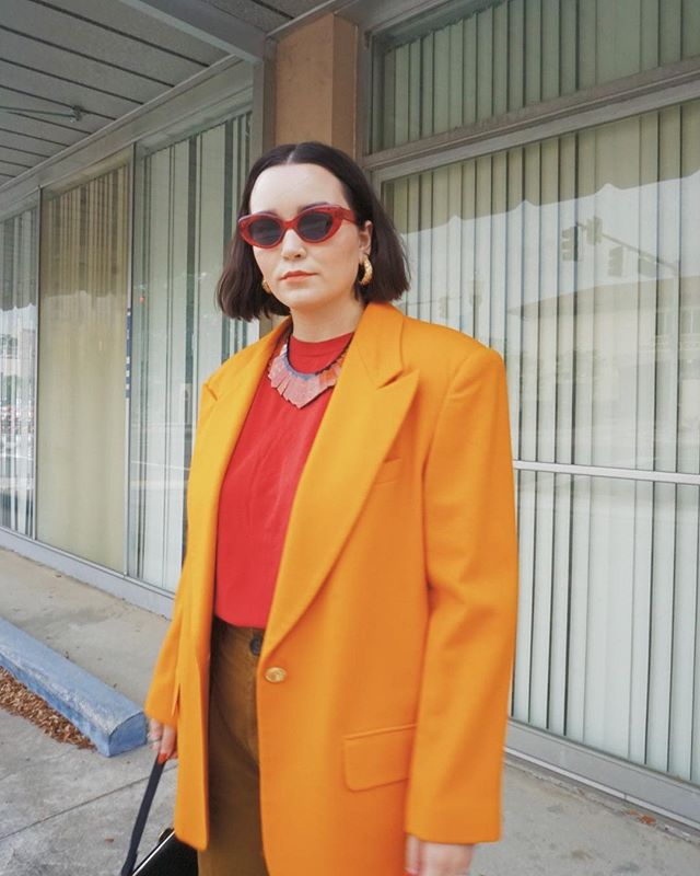 Ketchup and mustard 🔥 feelin' it. ⁣⁣ ⁣ ⁣⁣ #whatiwore #whatshewore #alwaysplaydressup #ootd #vintage #thrifted #vintagestyle #vintagefashion #vintagelover #style #fashion #styled #consciousfashion #thriftstorestyle #thriftstorefinds #fashionblogger #styleblogger #floridablogger #lovelakeland #instastyle #wiw