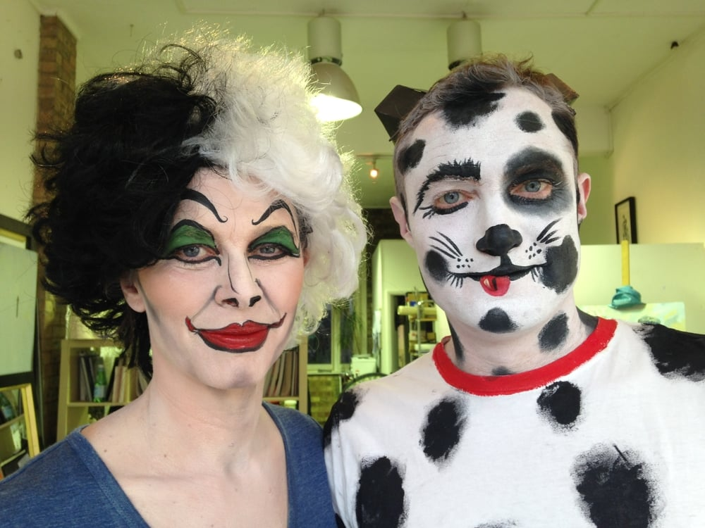 Cruella Deville and Dalmation