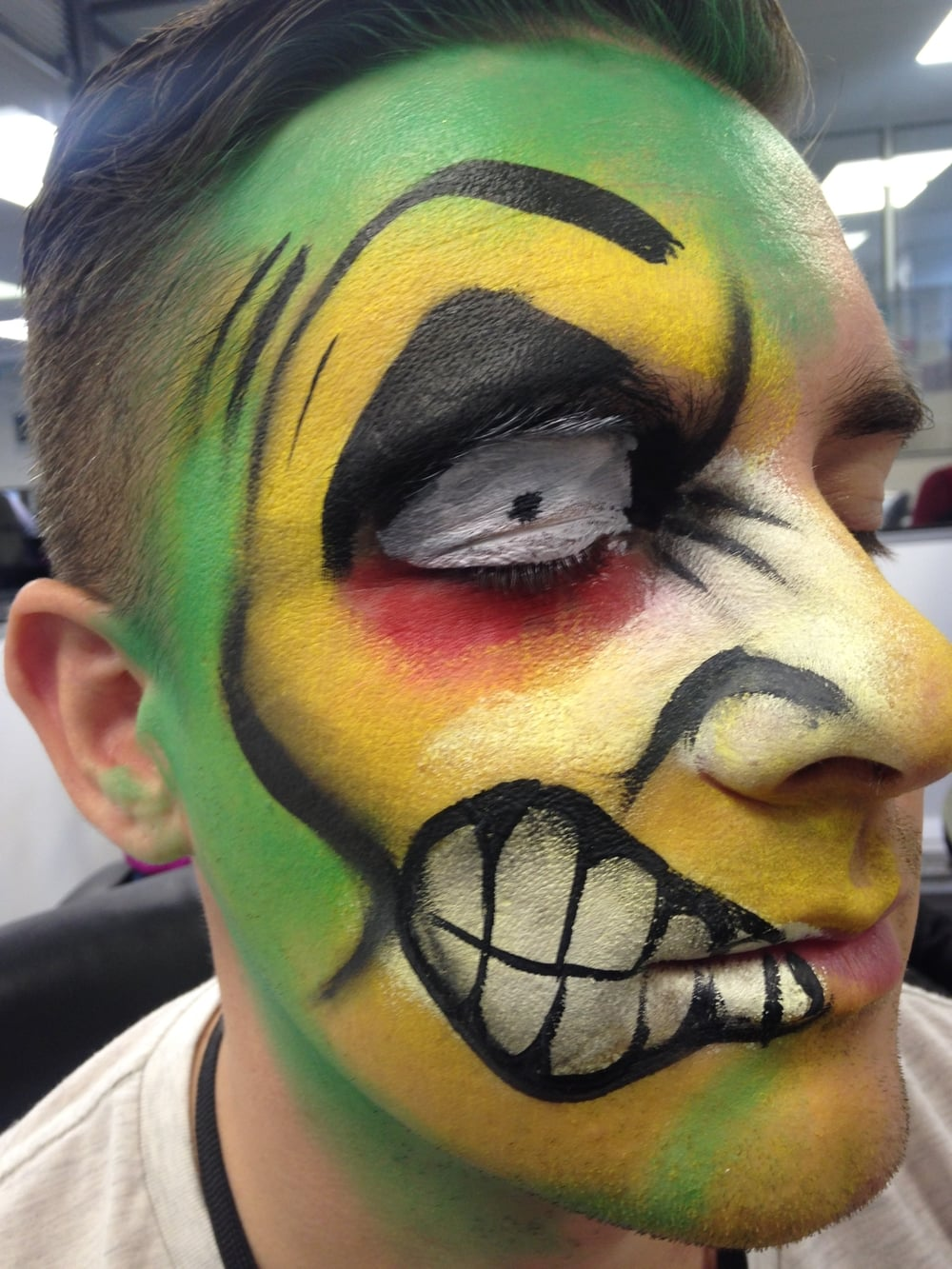 Marvel Comics Face Painting