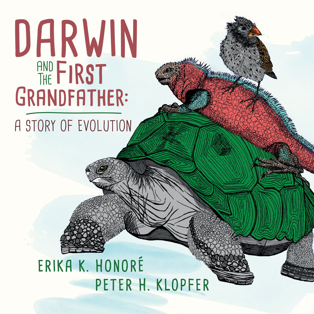 Galapagos Totem Children's book illustration Darwin and the First Grandfather: A Story of Evolution