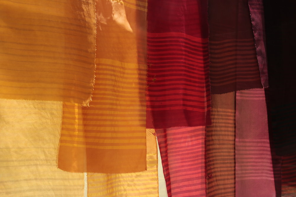 - HAND DYED AND HAND PRINTED CLOTH.ONE YARD AT A TIME.NATURALLY.