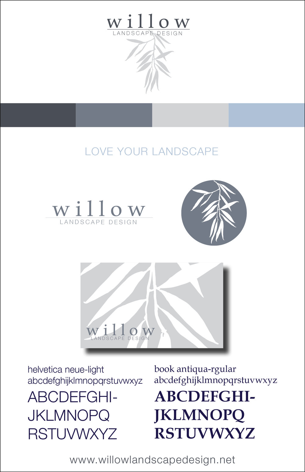 Copy of Willow Landscape Design Branding