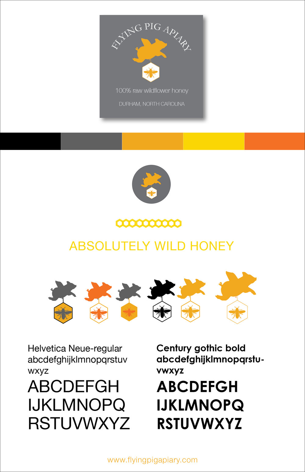 Copy of Flying Pig Apiary Branding