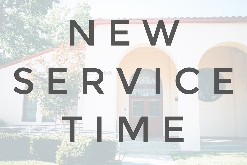 Join us at our new service time at 10:00 am!