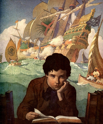 """Imagination"" by N.C. Wyeth"