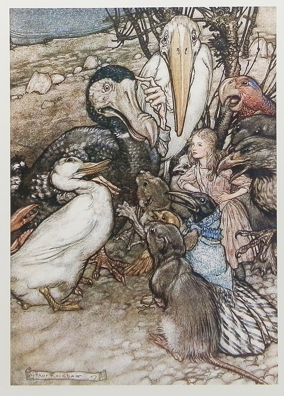 """A Caucus Race"" by Arthur Rackham"