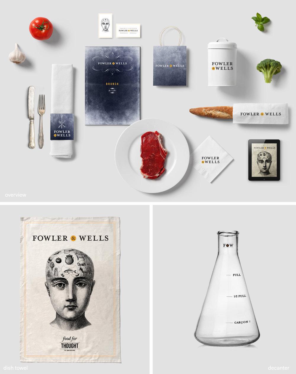 fowler and wells branding design