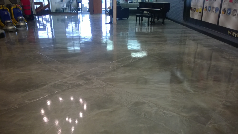 Marbleized Metallic Epoxy Floors Custom Coatings