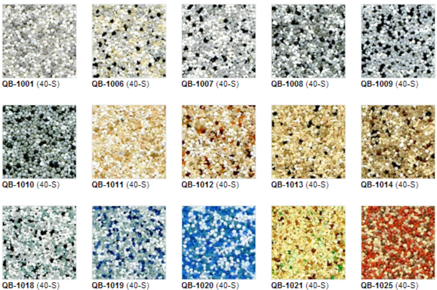 Quartz anti-skid color chart