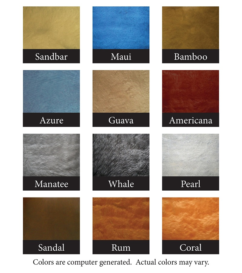 Metallic Powder Color Chart