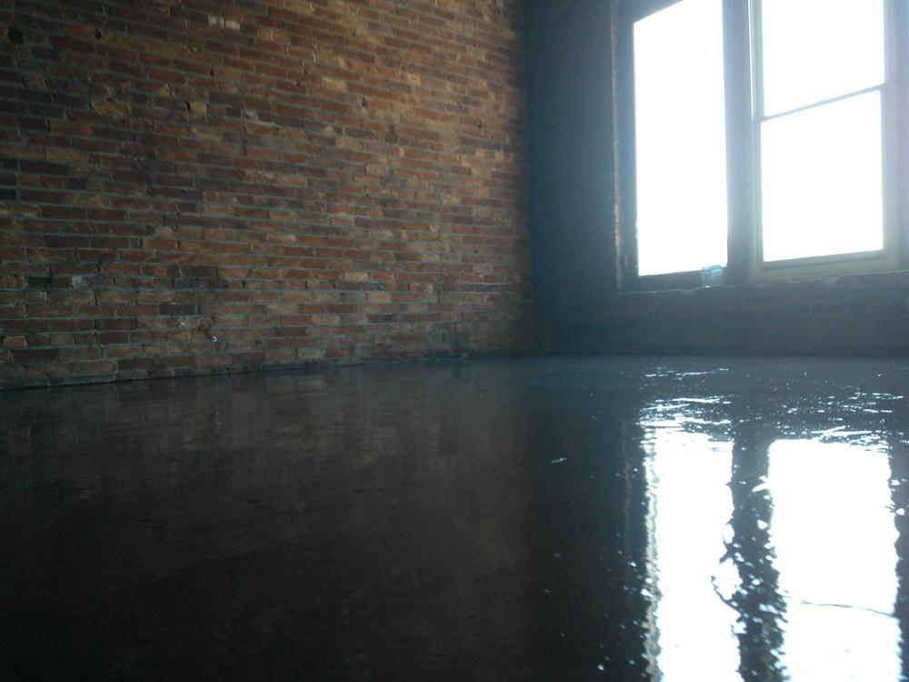 Marbleized Metallic Epoxy Floors Custom Coatings