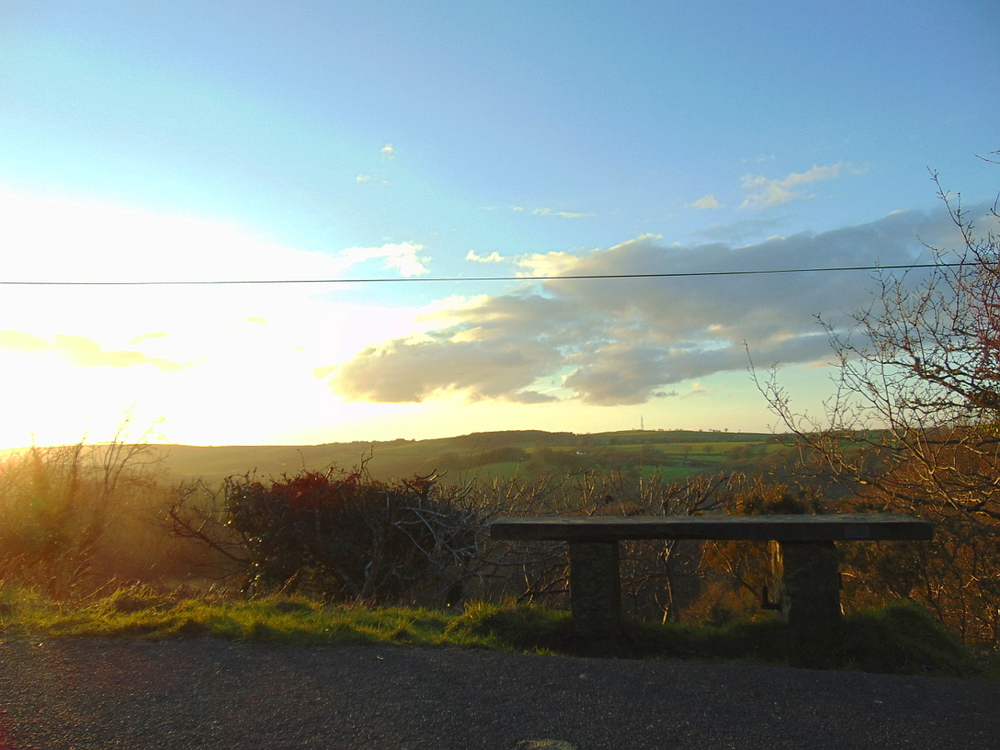 Wondering-Through-The-Cold-Spring-Devon-Cycle-Track-Sunset-Bench.JPG