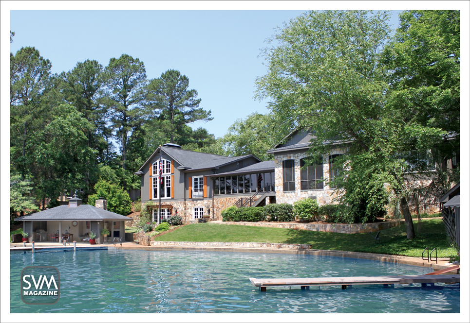Perfectly placed on the beautiful Lake Harding, the Savory's home is the perfect weekend getaway to relax and take in the lovely sights of nature.    SVM- SOUTHERN VIEWS MAGAZINE. All Rights Reserved. ©