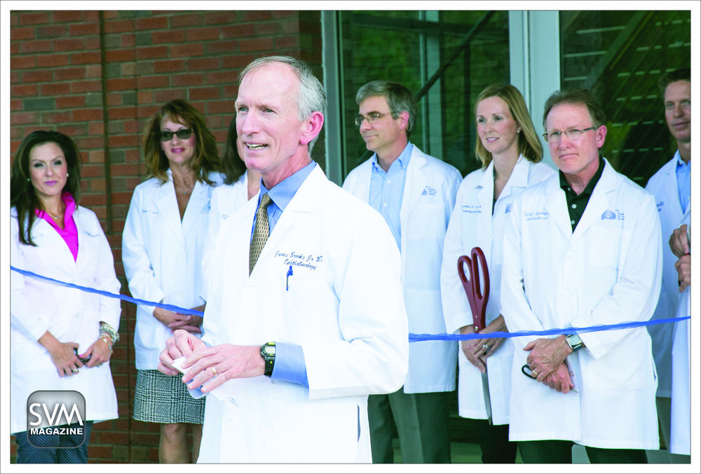Dr. James Brooks addresssing the guests during the ribbon cutting ceremony.