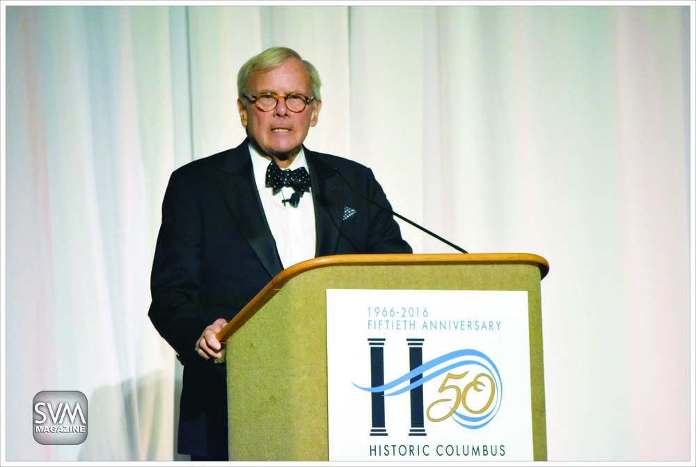 Tom Brokaw during his speech.